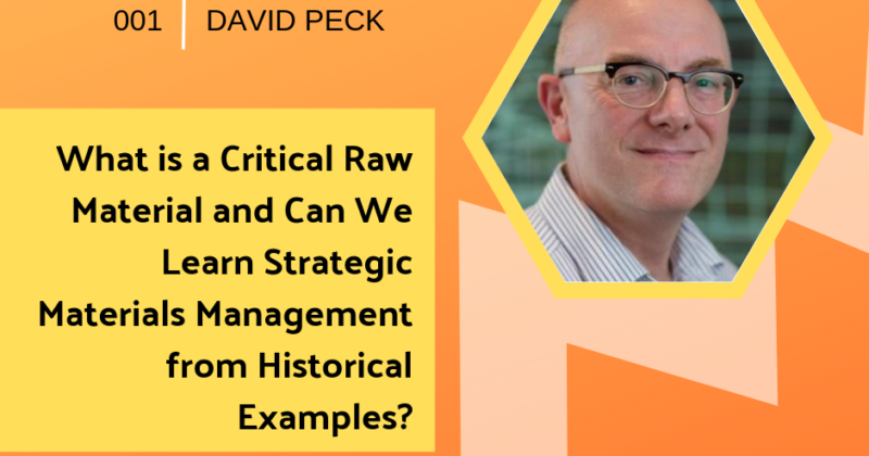 Critical Raw Materials and Historical Examples with David Peck | Getting in the Loop Podcast